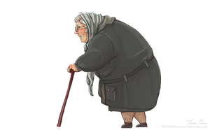 Old Lady by Resusan