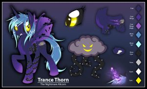 Trance Thorn - Art Trade with NightOttsel by AlicornParty