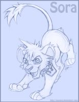 Lion Cub Sora -Sketch- by Nyaasu