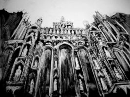 Well's Cathedral front by FrostatMidnight
