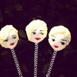 Marilyn Monroe cake pops by I-am-Ginger-Pops
