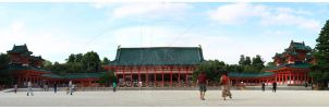 Heian Shrine Panorama by K-Tak