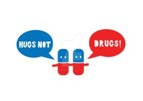 Hugs not drugs. by hairycheesecake