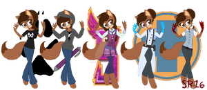 Shelly Fox's outfits 1 by SuperRosey16