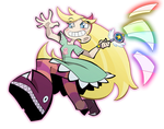 Star Butterfly by The-Pink-Pirate