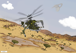 Tales of the Atomic Age :Gunship over the Savannah by dan338