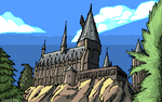 Pixel Hogwarts by Timitu