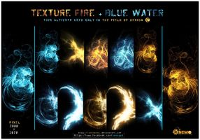 Texture Fire- Blue water 2013 by animekol