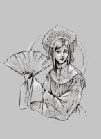 Lady with the fan by Crymson99