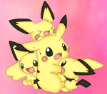 pikachu and pichu :D by Estertje1297