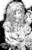 Zombie Babe by DontBornInInk
