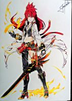 Elesis Blazing Heart - Elsword by JeanCarlo183