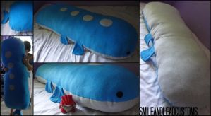 Giant 5FT Wailord Pillow by SmileAndLead