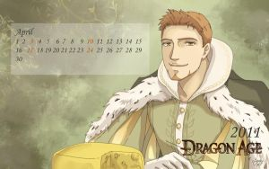 Dragon Age 2011 Calendar April by tankgirly