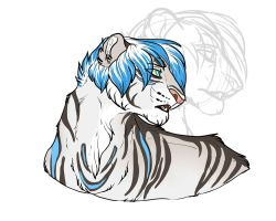 Icey liger by Whitefeathur