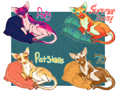 cats, round 2 - $5 each by Bl1zzy