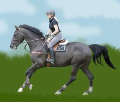 A friend and her horse by majann