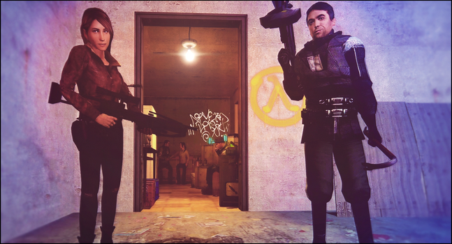 Proud leaders of the Resistance [HL2] by SchwarzDahlie