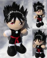 Commission, Mini Plushie Hiei by ThePlushieLady