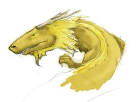 Dragon speedpaint coloured by Aeyze