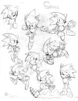 Classic Sonic Sketches 2 by TrueRetroSonic