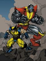 Logan and Collosus by Lakcoo2 by SageHazzard