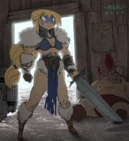 The Blonde Barbarian by StarvingStudents