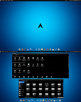 Arch Linux BE::SHELL Black n Blue by CraazyT