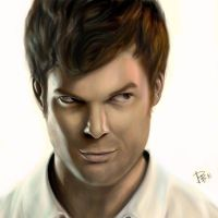 Dexter Morgan White BG by FEARedound
