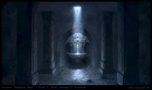 Dungeon level 1 - level concept C: Fountain by Cloister