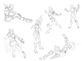 Guild Wars inspired pose practice by kaomau
