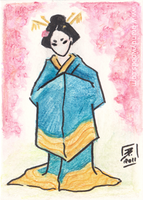 The Lady in the Ocean Kimono by BrandyWoods