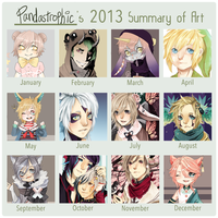 Summary of Art 2013 by Pandastrophic