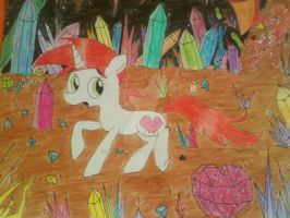 hearty (name pony ) in the crystal cave by Ice-Dreams