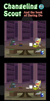 Changeling Scout And The Book Of Daring Do 09 by vavacung
