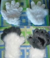 White+White/Grey Handpaws by MagicLocket