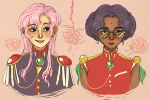 Utena + Anthy by amaltheas