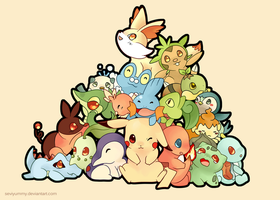 Pokemon: All starters