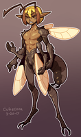 COMMISSION: wasp guy by Cubesona