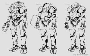 Space mech-variations by IZRA