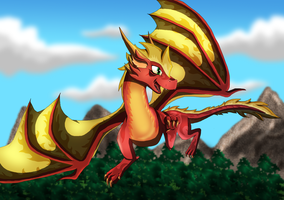 Soaring by SuperSonicFireDragon