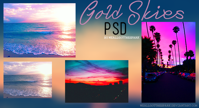 Gold Skies|PSD| by WeAllGotTheSpark