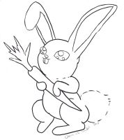 Bunny Coloring page by Ryvienna