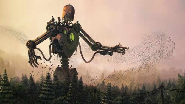 Happy Iron Giant (firefighter) by patsober