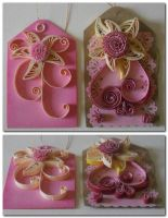 Quilled Tags pink by staceysmile