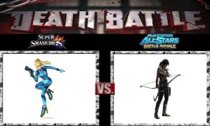Death Battle Zero Suit Samus vs Lara Croft by Werewolf-Hero