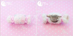 Plush candy Brooch and hairclip by CuteMoonbunny
