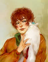 Kyle and his cat by alison-nyash
