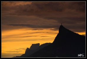 Sunset at Cristo Redentor by Neo-Br