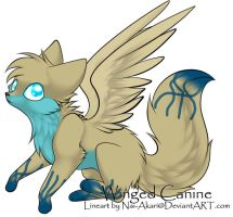 Winged Canine Pup by Inner-Realm-Adopts